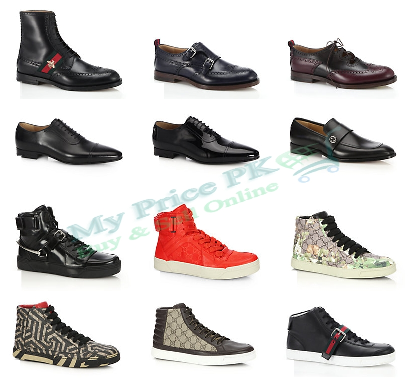 Gucci Men's Lace Up Leather Shoes Sneakers For Winter Price In Pakistan Designs Colors New Arrivals