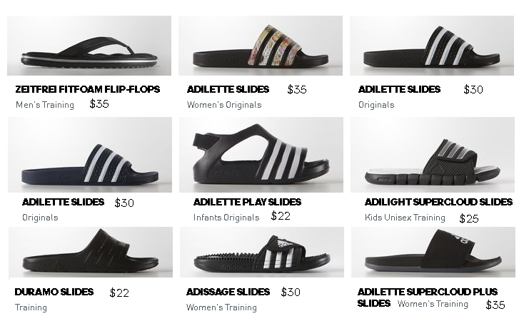 Adidas Men's Shoes Collection For Summer 2021 Sandal and Slides New Arrivals with Price